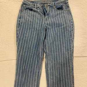 Striped American eagle jeans